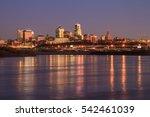 a view of the kansas city...   Shutterstock . vector #542461039