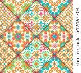 abstract seamless patchwork... | Shutterstock . vector #542462704