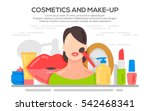 make up beauty woman concept... | Shutterstock .eps vector #542468341