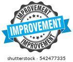 improvement. stamp. sticker.... | Shutterstock .eps vector #542477335