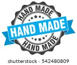 hand made. stamp. sticker. seal.... | Shutterstock .eps vector #542480809