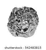 crumpled ball of aluminum foil... | Shutterstock . vector #542483815