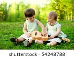 Two Cute Children Playing...