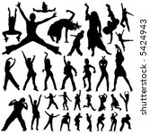 dancing and party people vector | Shutterstock .eps vector #5424943