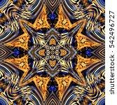 abstract decorative multicolor... | Shutterstock . vector #542496727