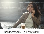 40 year old woman drinking... | Shutterstock . vector #542499841