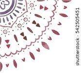 watercolor ethnic pattern.... | Shutterstock . vector #542505451