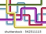 intersecting pipes on white... | Shutterstock .eps vector #542511115
