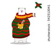 hand drawn cute polar bear... | Shutterstock .eps vector #542513041