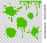 paint drop abstract... | Shutterstock .eps vector #542514055