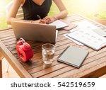 asian smile beautiful girl... | Shutterstock . vector #542519659