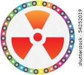 radiation icon | Shutterstock .eps vector #54252019