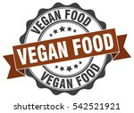vegan food. stamp. sticker.... | Shutterstock .eps vector #542521921