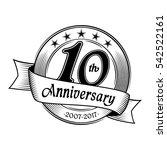 10th anniversary design... | Shutterstock .eps vector #542522161