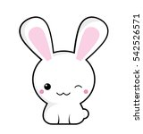 cute and happy white rabbit... | Shutterstock .eps vector #542526571