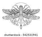 dragonfly coloring book for...   Shutterstock . vector #542531941