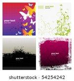 4 grunge banner floral... | Shutterstock .eps vector #54254242