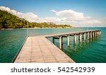 bridge in the sea. rayong ... | Shutterstock . vector #542542939