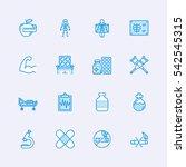 medicine icons | Shutterstock .eps vector #542545315