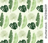 palm tree leaves pattern | Shutterstock .eps vector #542546059