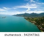aerial view of ilhabela  sao... | Shutterstock . vector #542547361