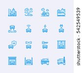 transport icons | Shutterstock .eps vector #542549539