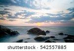 stone in the sea  | Shutterstock . vector #542557885
