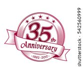 35th anniversary design... | Shutterstock .eps vector #542560999
