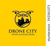 drone city template logo design.... | Shutterstock .eps vector #542561371