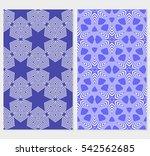 set of vector seamless pattern... | Shutterstock .eps vector #542562685