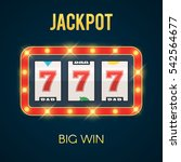 lucky seven jackpot on slot... | Shutterstock .eps vector #542564677
