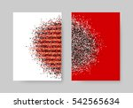 abstract background with cloud... | Shutterstock .eps vector #542565634