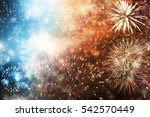 fireworks at new year and copy... | Shutterstock . vector #542570449