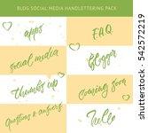 hand drawn lettering social... | Shutterstock .eps vector #542572219