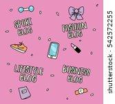 hand drawn lettering social... | Shutterstock .eps vector #542572255