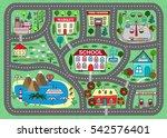 lovely city landscape car track.... | Shutterstock .eps vector #542576401