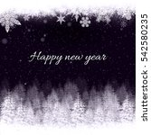 new year card | Shutterstock . vector #542580235