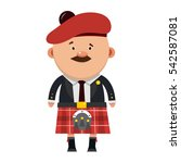 scottish male with a mustache...