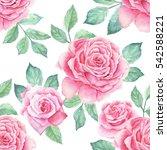 watercolor flower pattern   Shutterstock . vector #542588221