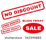 no discount rubber seal stamp...   Shutterstock .eps vector #542590885