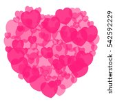 red heart shape made with a... | Shutterstock .eps vector #542592229