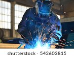 welders working at the factory... | Shutterstock . vector #542603815