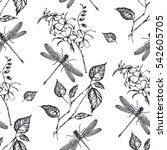 Seamless Pattern  Flowers And...