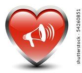 heart shape megaphone sign icon | Shutterstock .eps vector #54260851