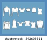 set of clothes icons. female... | Shutterstock .eps vector #542609911