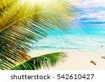 tropical island. the seychelles.... | Shutterstock . vector #542610427