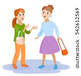 two friendly female mature... | Shutterstock .eps vector #542612569