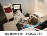 business woman passenger... | Shutterstock . vector #542623759