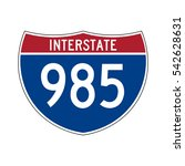 interstate highway 985 road sign | Shutterstock .eps vector #542628631