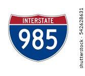 interstate highway 985 road sign | Shutterstock .eps vector #542628631